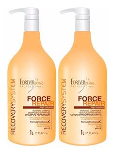 Kit Shampoo E Condicionador Force Repair 1lt - Forever Liss