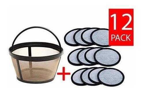Repuesto Filtro Cafetera - Discos De Carbón X12uds + Cesta