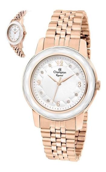 Relógio Champion Feminino Cn24048z Fashion Rosé Original