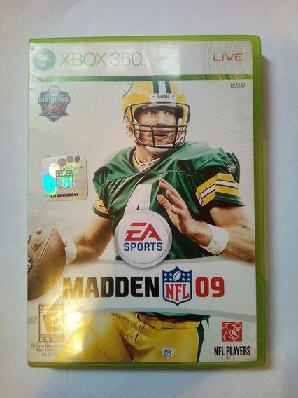 Jogo Madden Nfl 09 Xbox360 Ntsc Em Dvd Original