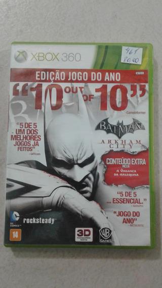 Batman Arkham City Xbox 360 Mídia Física
