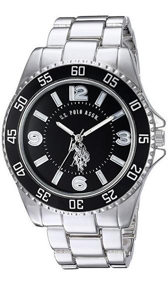 Reloj De Hombre Polo Modelo Usc80515 Clasico Plateado