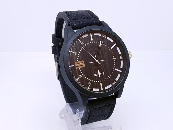 Relógio Luxo Masculino Yasolle Pulso Social Pulseira Couro