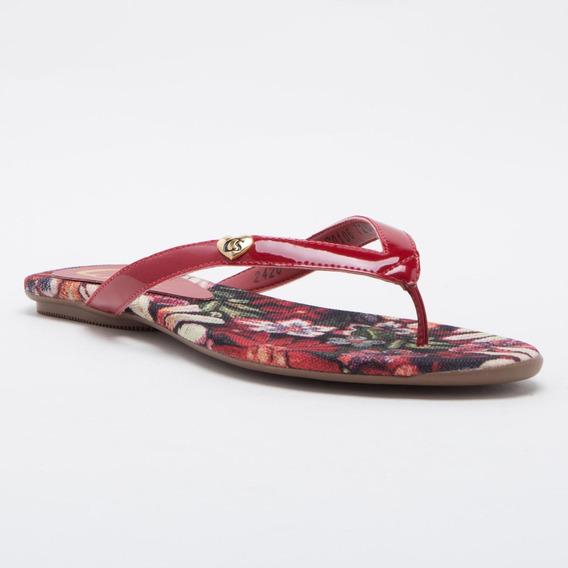 Rasteira Floral Red - C0106726398