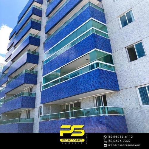 Apartamento Com 2 Dormitórios À Venda, 70 M² Por R$ 370.000 - Bessa - João Pessoa/pb - Ap3967