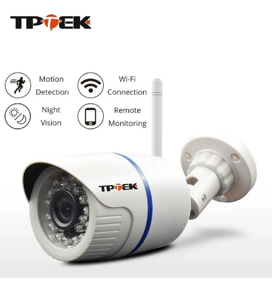 Câmera De Segurança Ip Sem Fio Wifi Câmera Externa Com Fonte