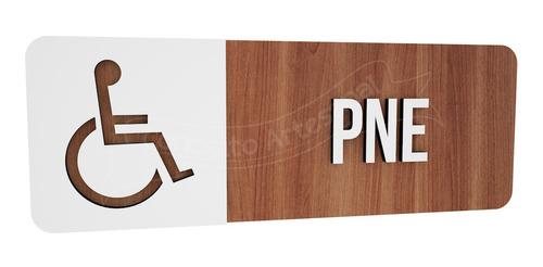 Imagem 1 de 3 de Placa Informativa  Banheiro Pne Deficiente Hotel Restaurante