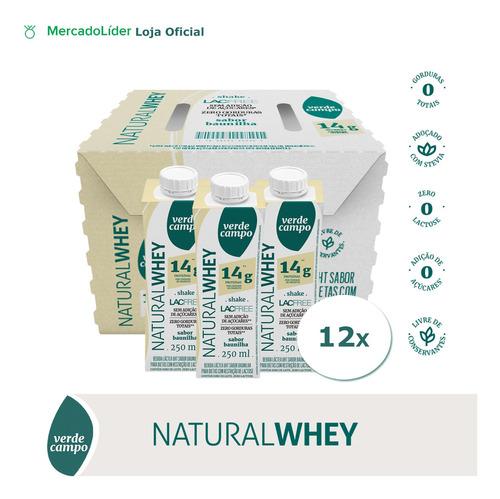 Shake Natural Whey Baunilha 250ml - Pack C/12un