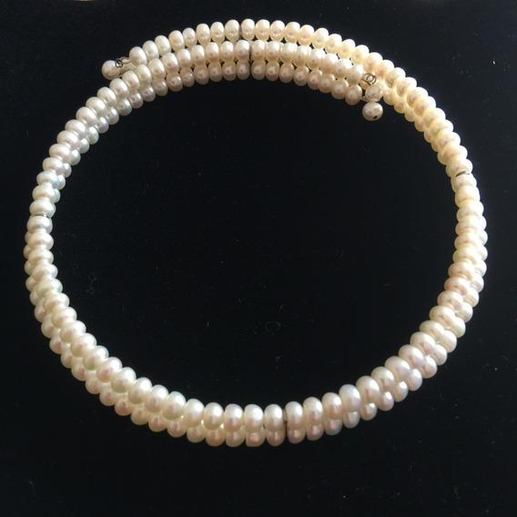 Gargantilla De Perlas Doble Blanco - P3rlas