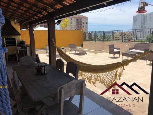 Cobertura 3 Dormitórios Suítes Enseada - Guarujá Sp - 4398