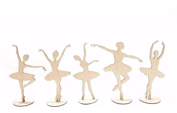 40 Lembrancinha Mdf Bailarina 20cm Festa 15 Anos Menina