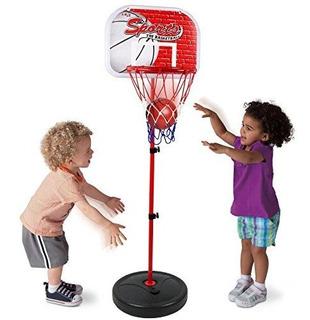 Kiddie Play Cancha De Baloncesto Ajustable Juego Niños Niñas