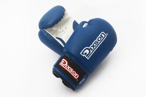 Guante De Boxeo Dixson Cuero Azul 12 Onzas