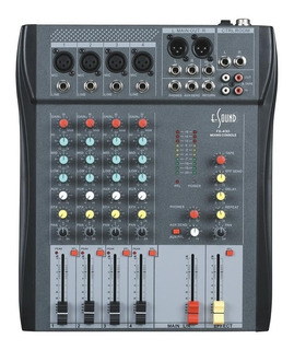 E-sound Fx-430 Consola 4 Canales Eq 3 Bandas Efectos Nuevo