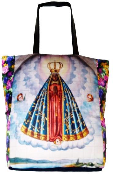 Bolsa De Tecido Tema Religioso Nossa Senhora Aparecida Linda