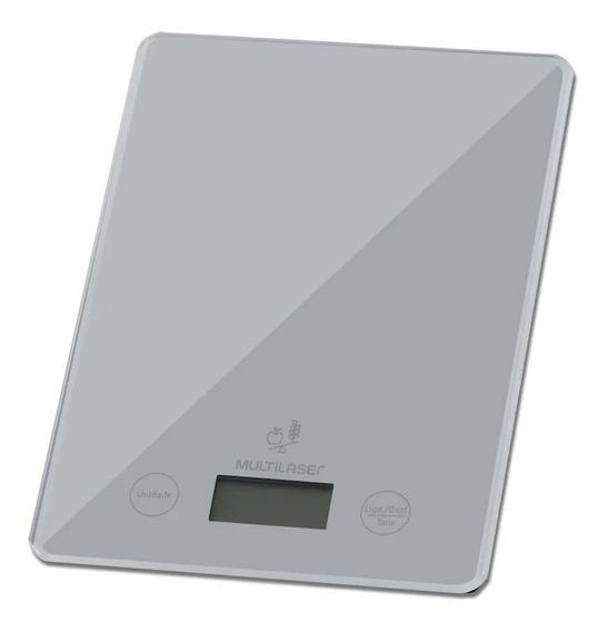 Balança De Cozinha Digital Plana Até 5kg Botão Touch