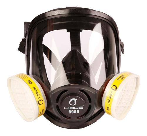 Máscara Respiratória Facial Completa Libus 9900 C/ 2 Filtros