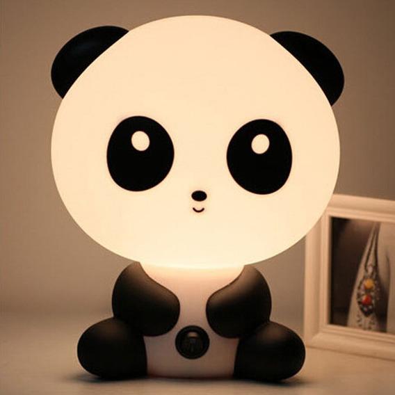 Luminária Abajur Infantil Panda Para Quarto Bebê Criança