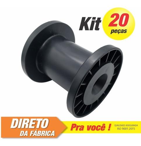 Imagem 1 de 8 de Carretel Plástico Abnt Nº02 - Kit C/ 20 Peças