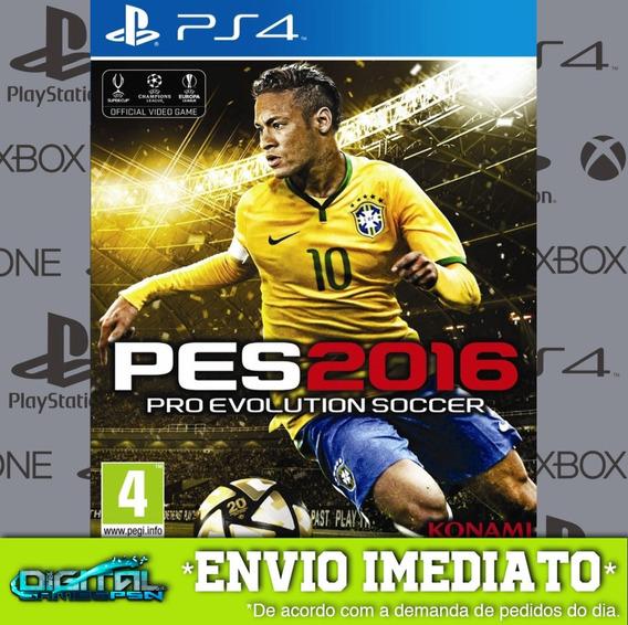Pro Evolution Soccer 2016 Ps4 Psn Jogo Digital Envio 10 Min