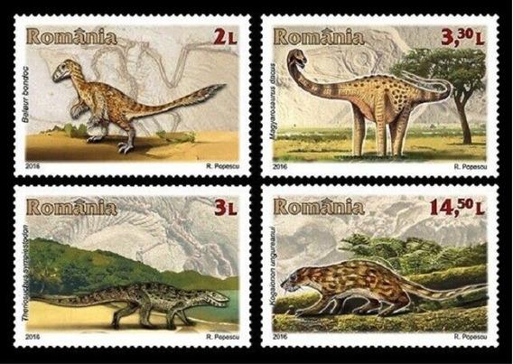 2016 Prehistoria- Dinosaurios - Rumania Mnh