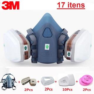 Respirador Mascara Pintura 3m 7502 5n11 501 17itens Mod 2