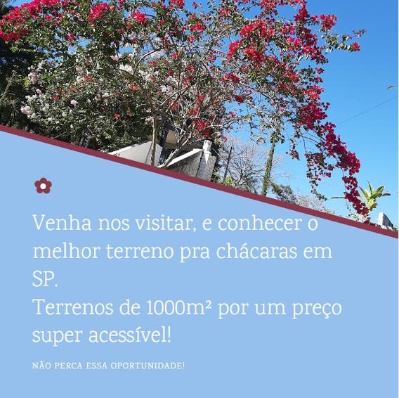Lote De 1000m² Para Construção De Chácara A 3 Km Do Asfalto.