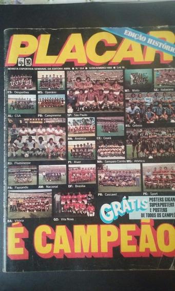 Revista Placar Edicao Dos Campeos N 554 De 1980 E.historica
