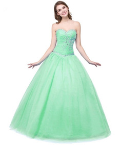 48a7362085 Vestido De Xv Años 15 Verde Económico 3 Colores Mod 3004