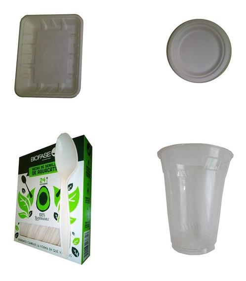 Desechables Biodegradables Paquete Fiesta P/48 Personas