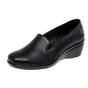 Zapatos Flexi 45201 Negro Piel Tacon 5 Cm Dama Pv