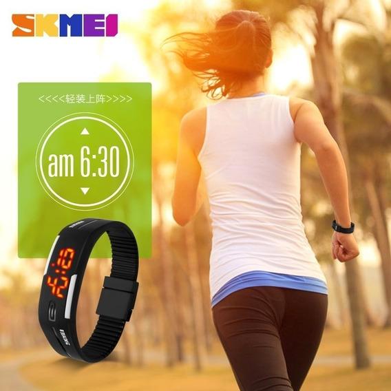 Relógio Pulseira Skmei 1099 Masculino Feminino Digital Esportivo Para Corrida Leve Fino Original Barato Com Nota Fiscal