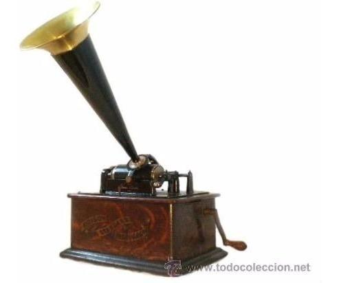 Fonógrafo Gramofone Tomas Edison 1903 Perfeito Toca Discos