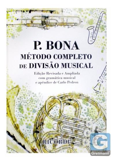 Método De Ensino P. Bona Completo De Divisão Musical 4a