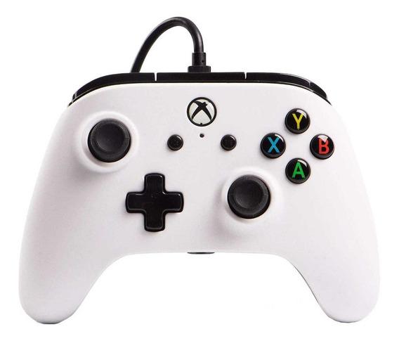 Controle joystick PowerA Enhanced Wired Controller Xbox One white