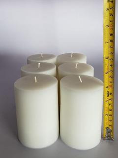 Cirio Vela Color Blanco 6pzs 7.5x10cm Ks