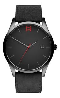 Reloj Mad Gun Delray - Reloj De Hombre - Malla Cuero Negro