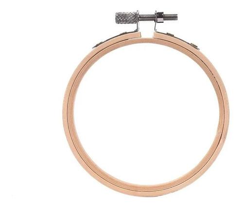 Bastidor De Bambu Artesanato 15 Cm Com Regulador