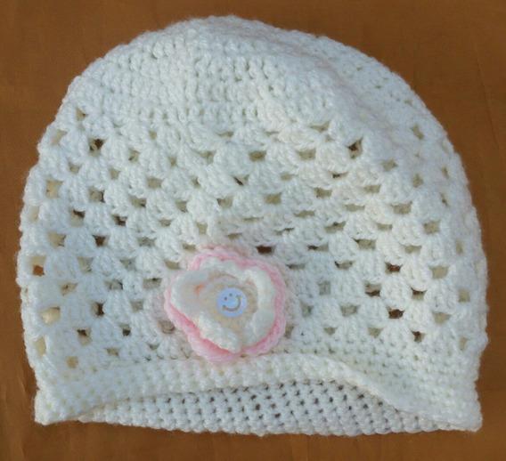 Gorro Crochet Nuevo Nena 2/3 Años Artesanal Crochetl
