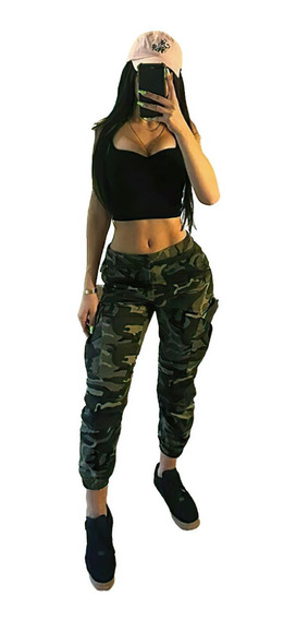 Pantalones Cargo Mujer Militar Mercadolibre Com Mx