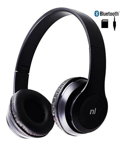Fone De Ouvido Headset Bluetooth Sd Fm Essence Hs117 Newlink