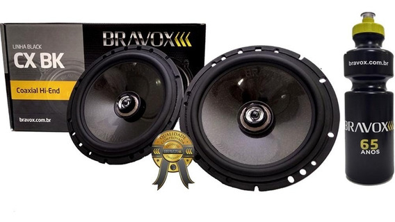 Alto Falante Coaxial Bravox Cx60bk 120w Rms Par + Brinde