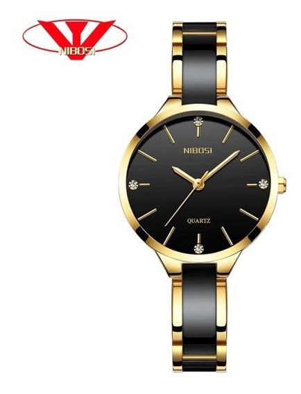 Relógio Feminino De Luxo Nibosi 2330