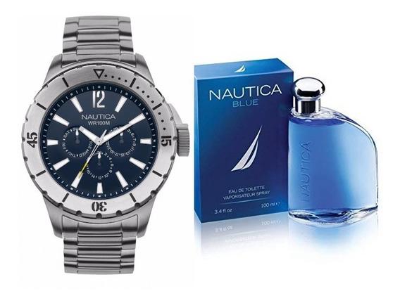 Reloj Y Perfume Nautica Caballero Original Y Envío Gratis !!