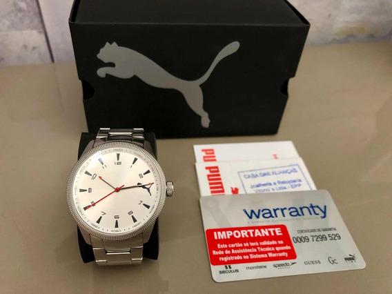 Relógio Puma Masculino - Analógico - Aço Inox - Novíssimo