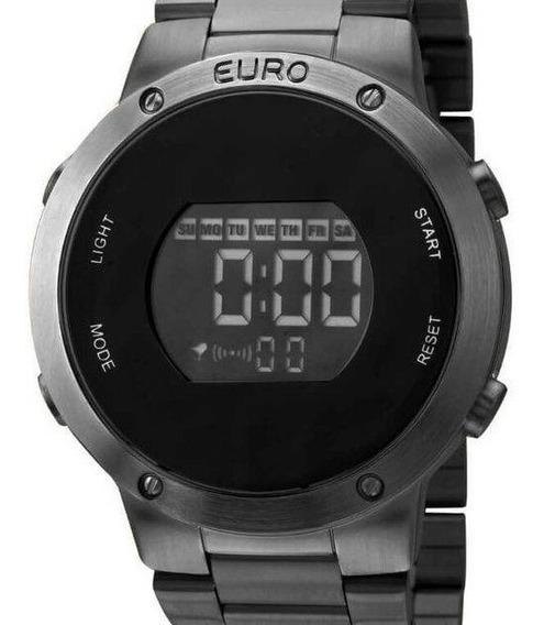 Relógio Euro Feminino Eubj3279ab/4p Preto Digital ( Nfe )