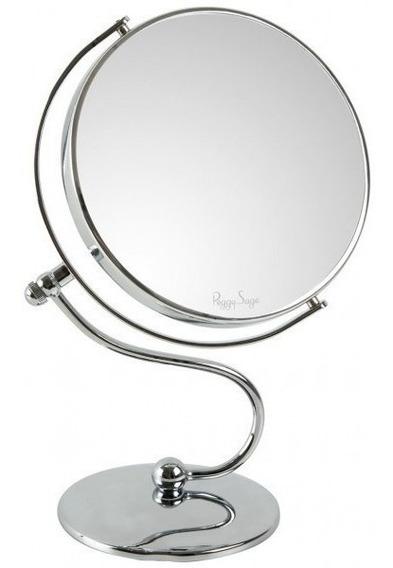 Espejo Maquillaje Doble Faz 3x Aumento Giro 360 Afeitado Dob