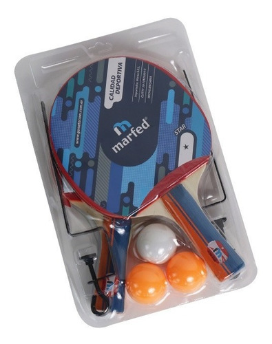 Set Ping Pong Combo Paletas+red+pelotas M A Y O R I S T A