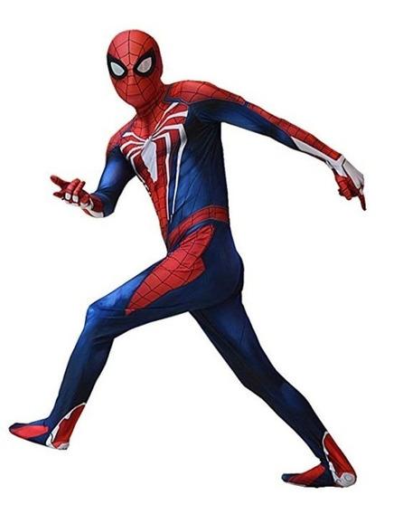 Spiderman Cosplay Ps4 Disfraz Traje Spiderman Adulto