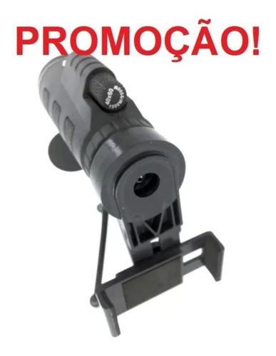 Imagem 1 de 10 de Monóculo Luneta Portátil 40x60 Suporte Celular +tripé +bolsa